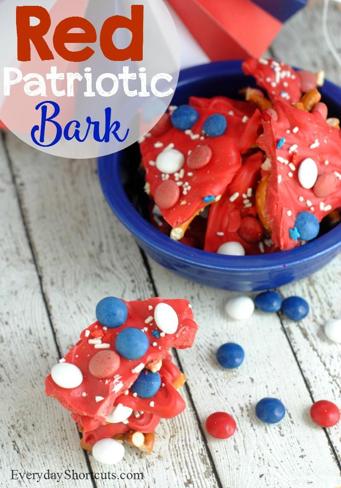 red patriotic bark