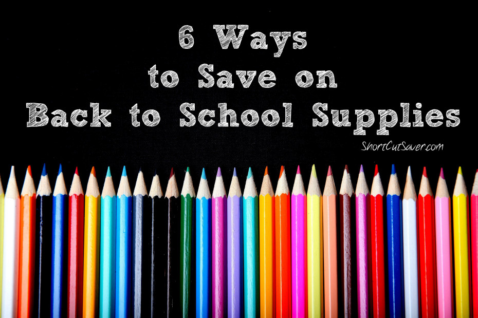 6 ways to save on Back to School Supplies
