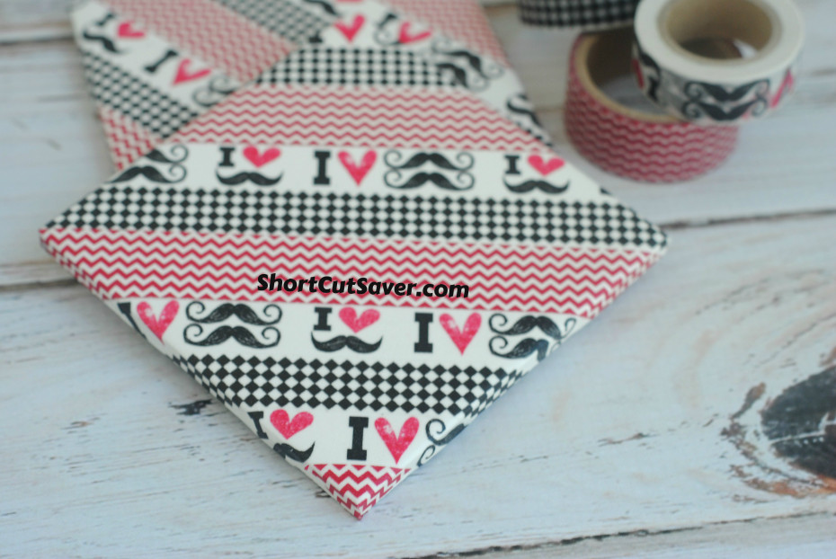 washi tape coaster