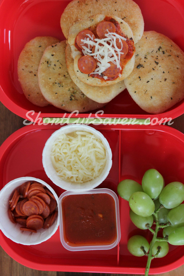 pizza bento lunch finished