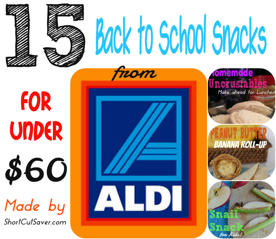 15 Back to school snacks at aldi for under $60