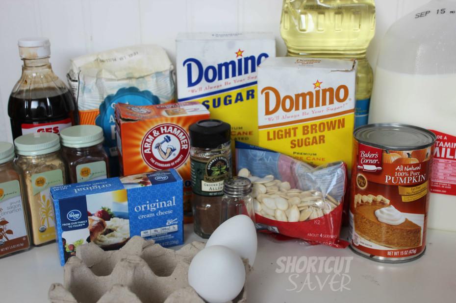 Copycat Pumpkin Cream Cheese Muffins ingredients