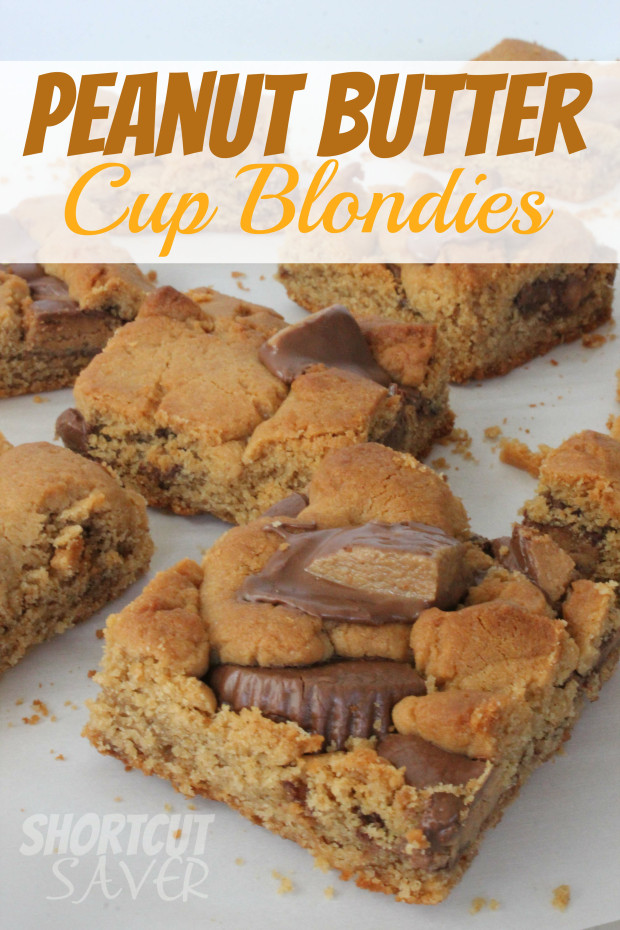 Peanut Butter Cup Blondies