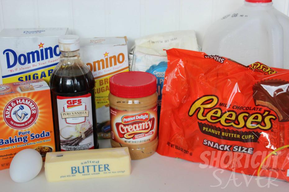 Peanut Butter Cup Blondies Ingredients