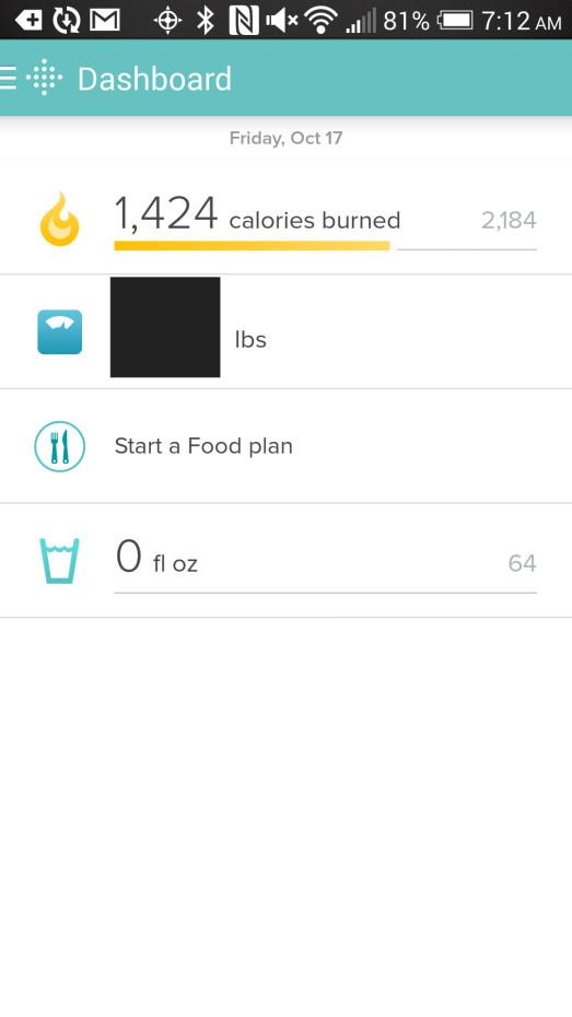 fitbit flex app