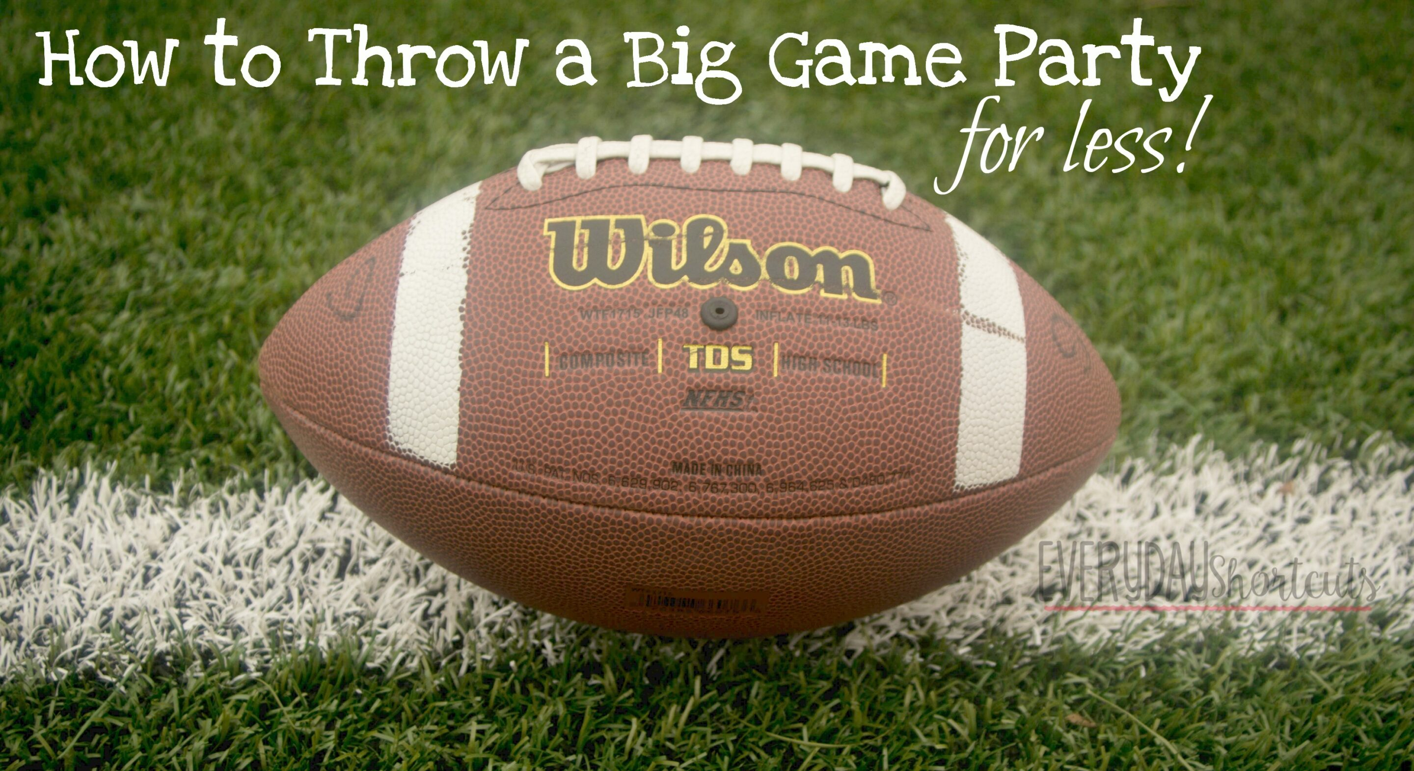 big game party for less