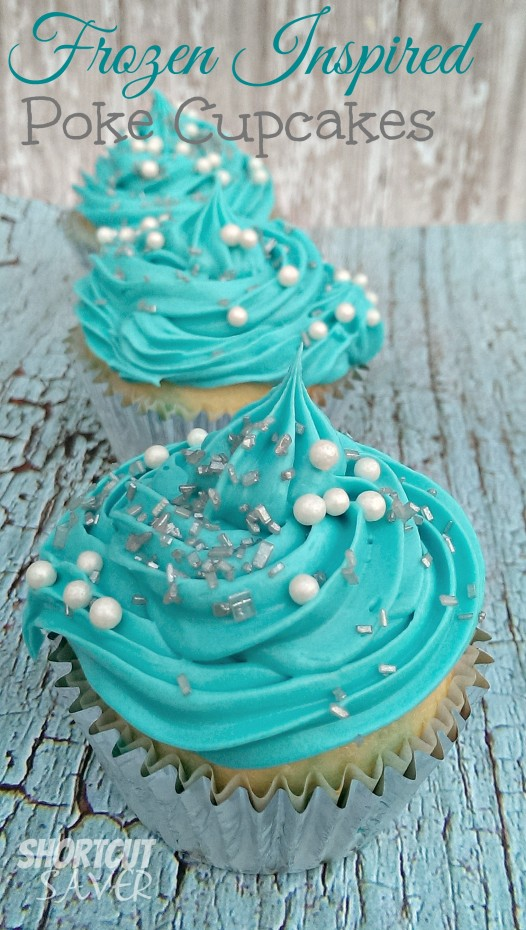 frozen inspired poke cupcakes
