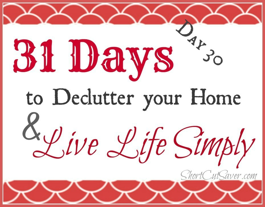 31 Days to Declutter Your Home & Live Life Simply: Tupperware
