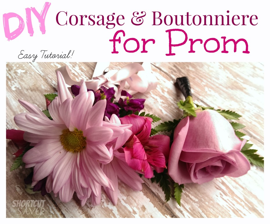 diy corsage and boutonniere