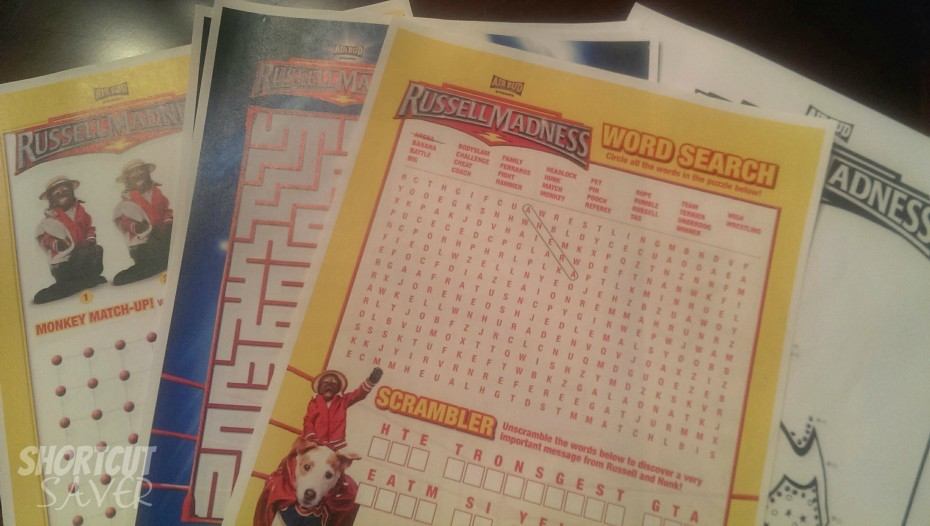 russell madness activity sheets