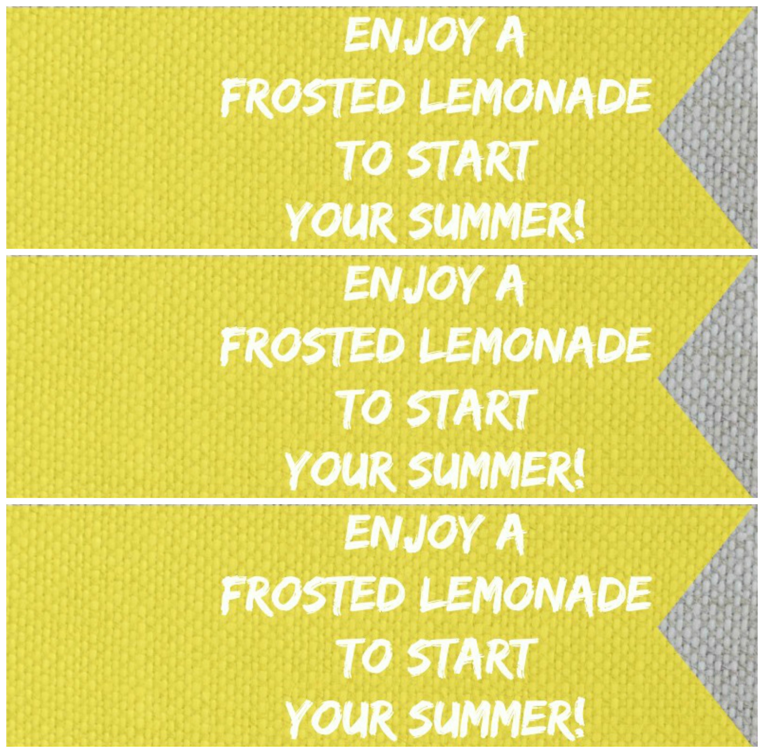 frosted lemonade straw tag