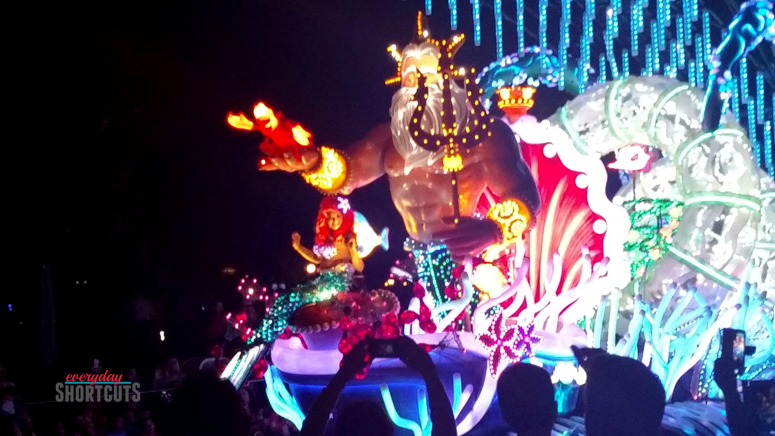 paint the night parade little mermaid