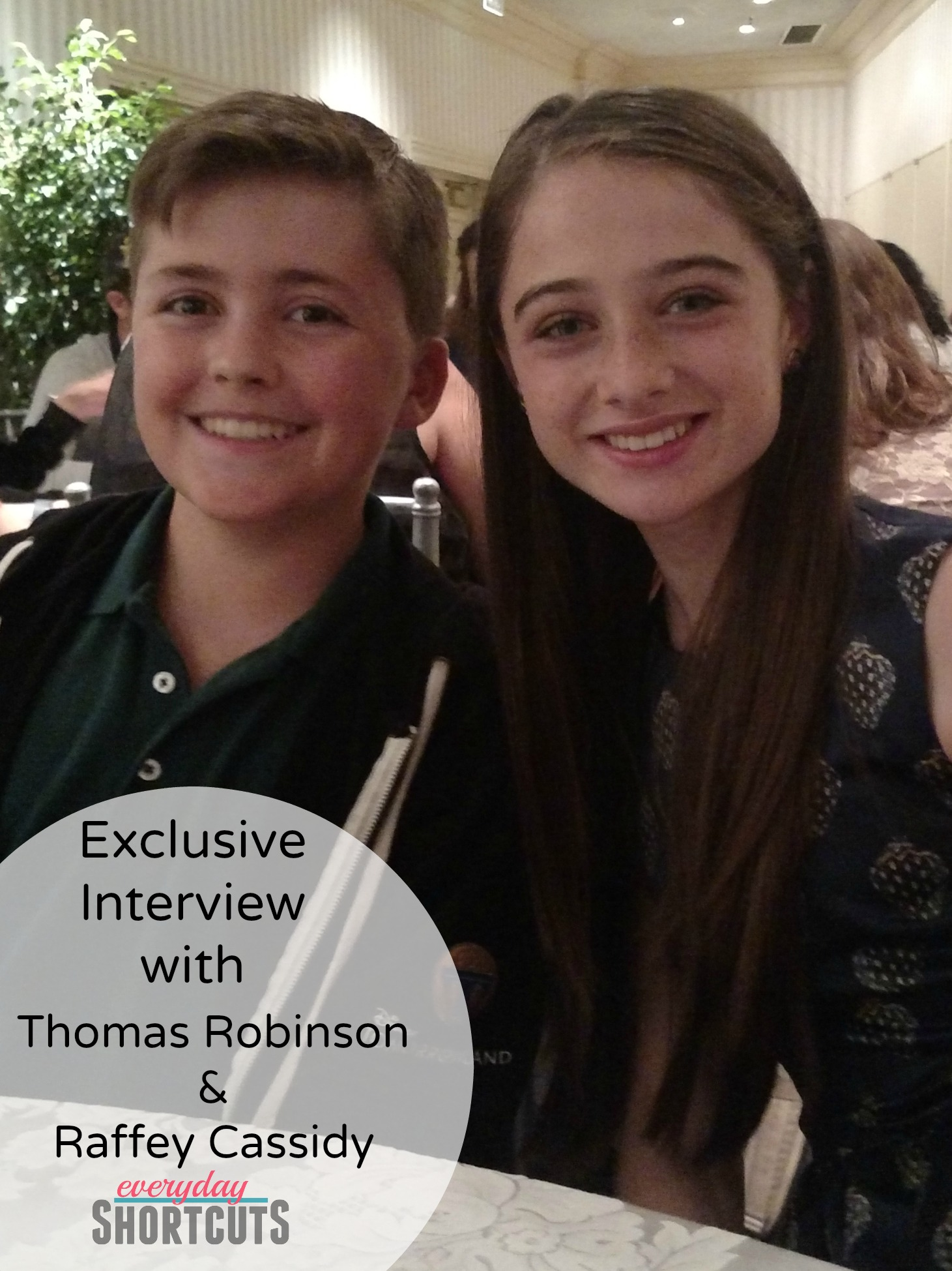 exclusive interview with Thomas Robinson & Raffey Cassidy