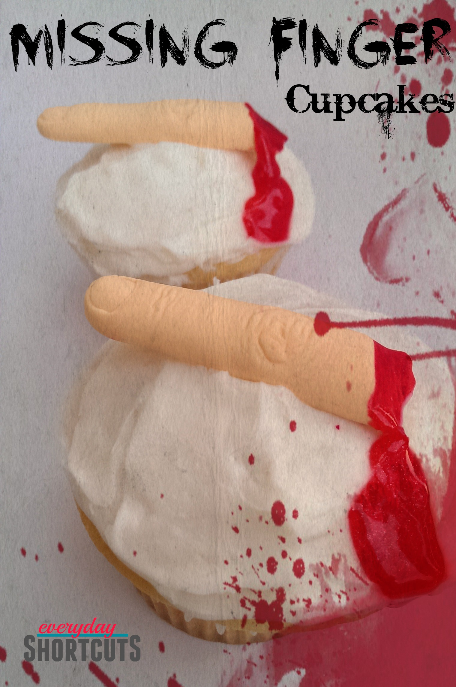 missing finger cupcakes