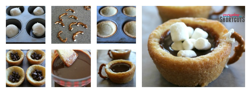 Hot Chocolate Cookie Cups process
