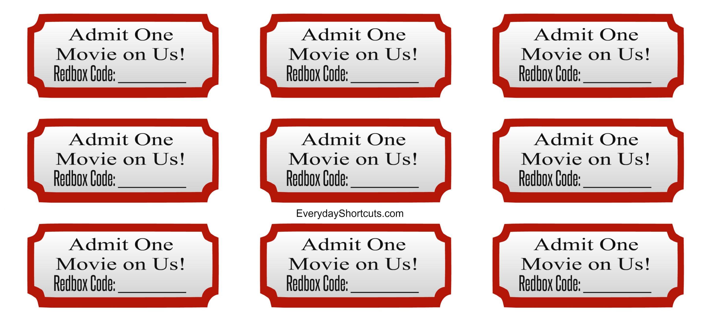 admit one movie on us
