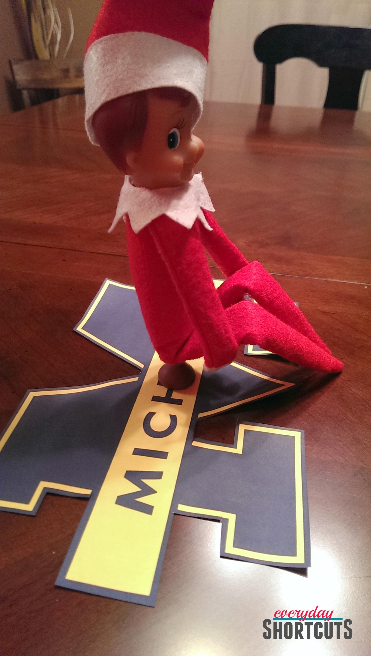 elf on the shelf pooping on Michigan