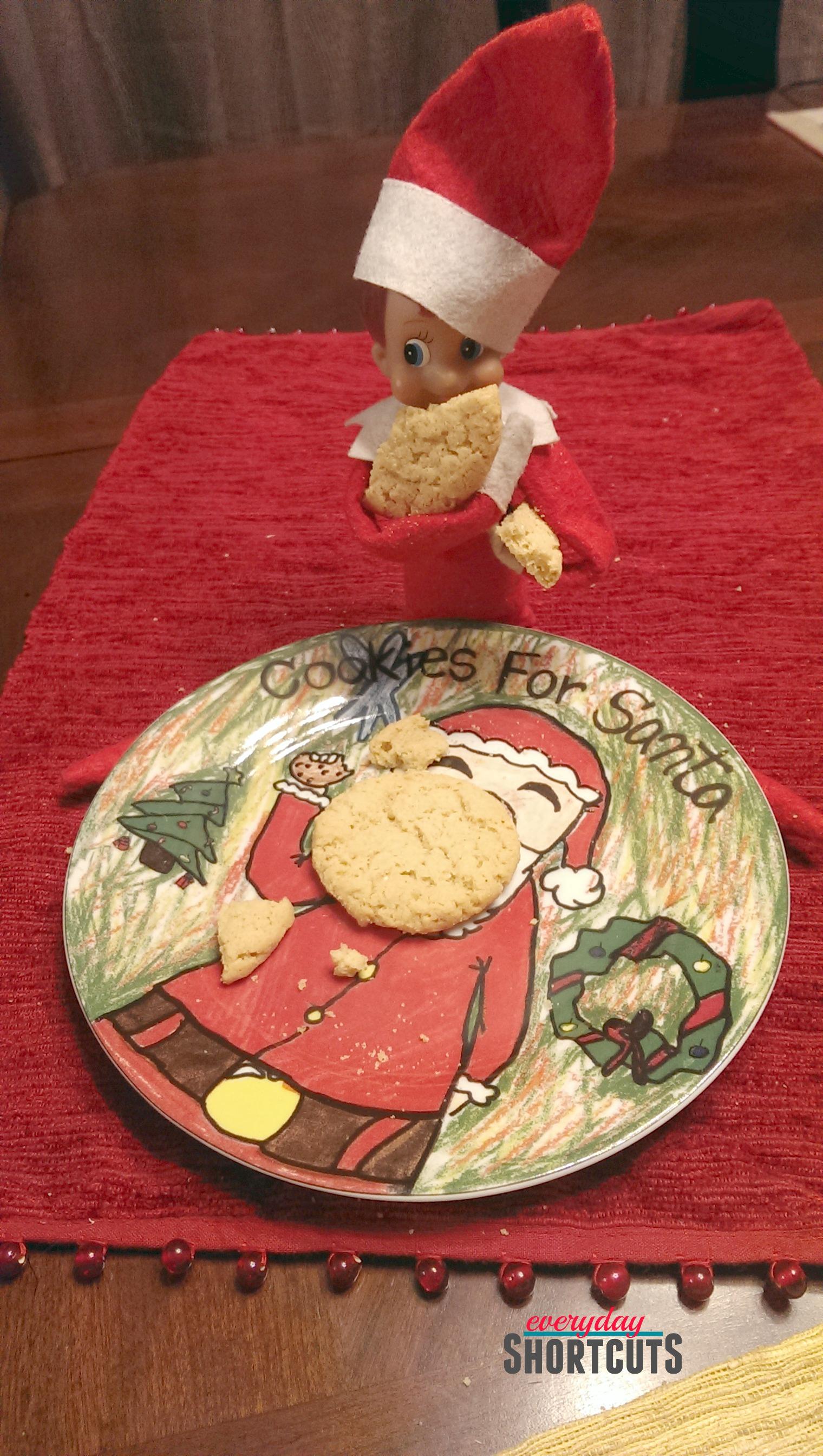 elf on the shelf santas cookies