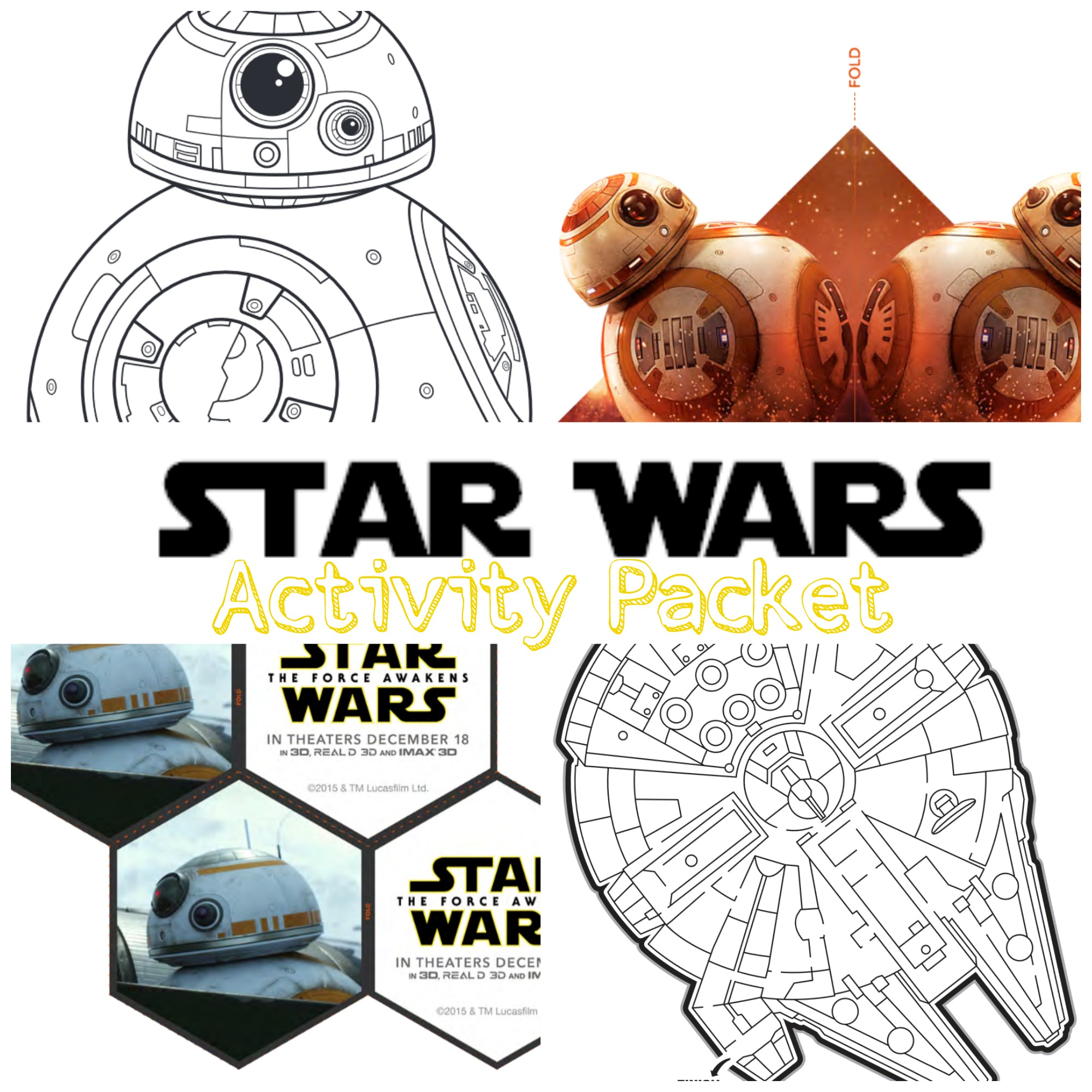 star wars activity packet