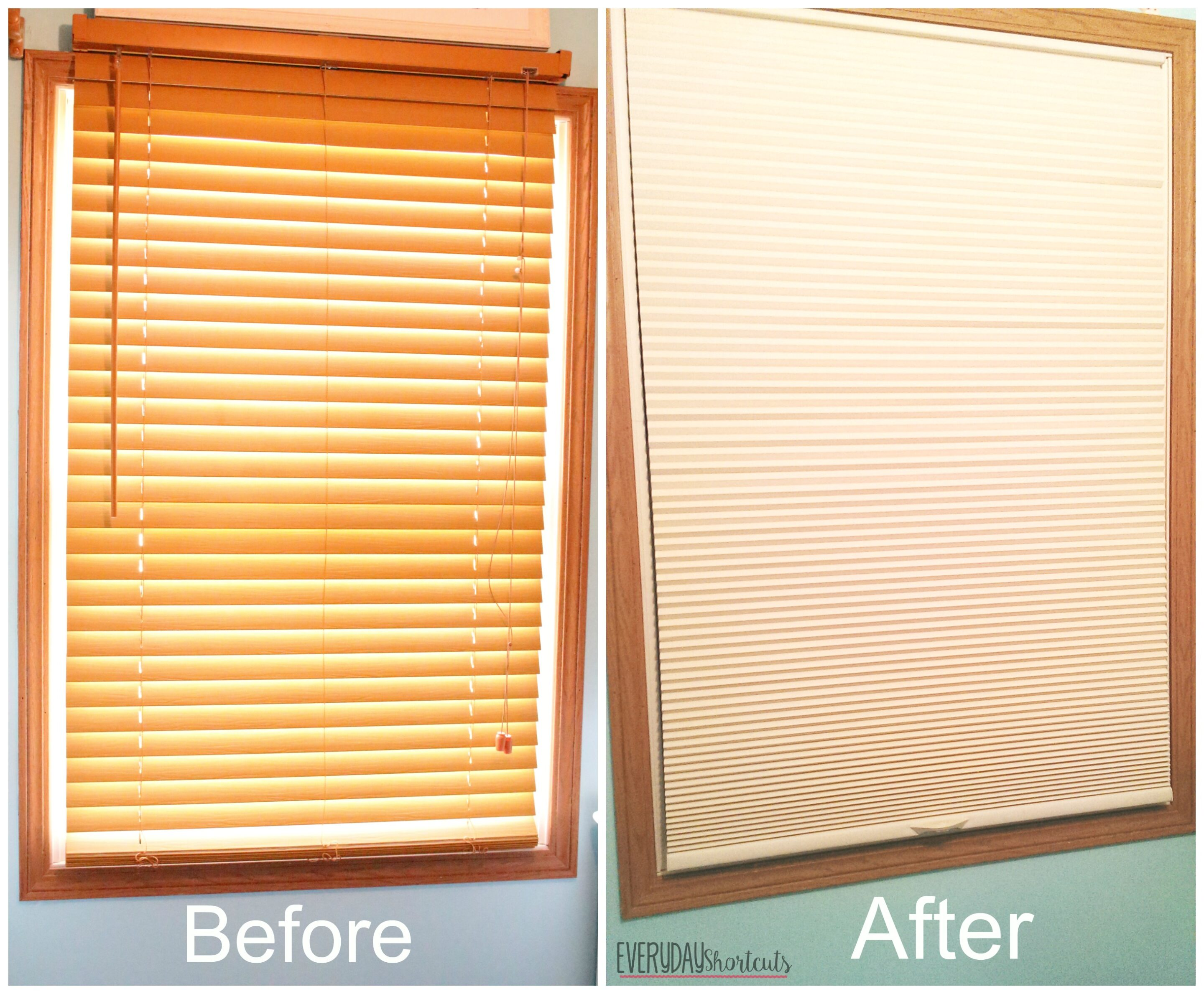 before and after blinds daughters room