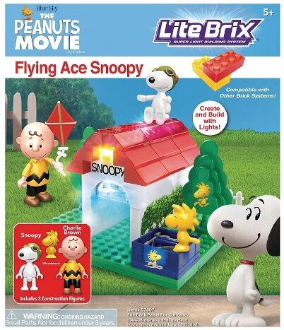 Peanuts Flying Ace Snoopy Lite Brix