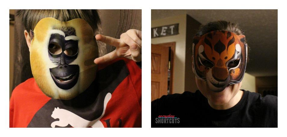 kung fu panda party masks