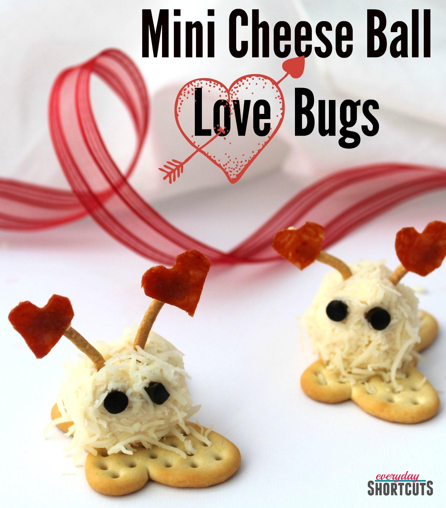mini cheese ball love bugs