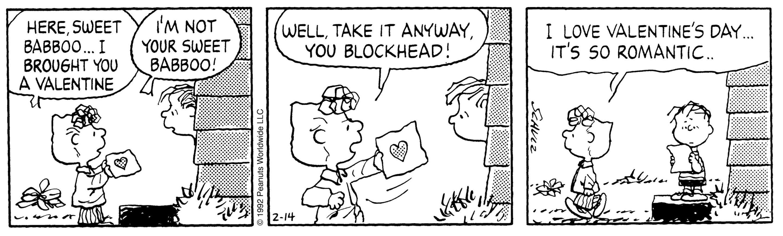 peanuts valentine comic strips