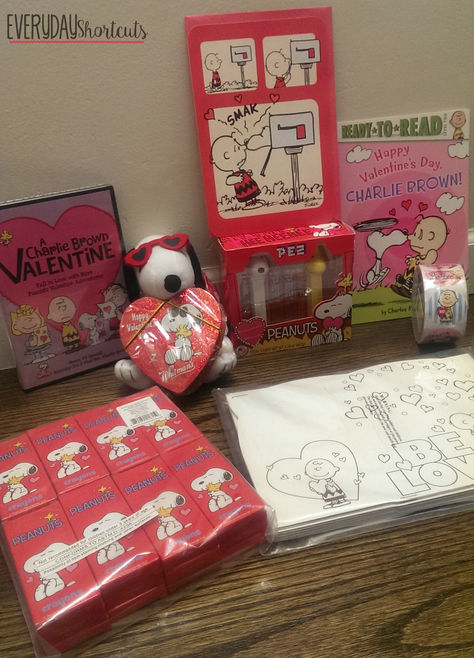 peanuts valentine's day goodies