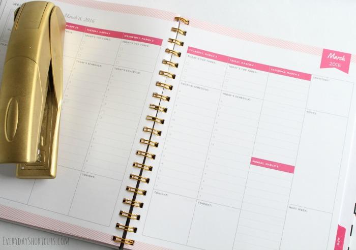 day designer planner page