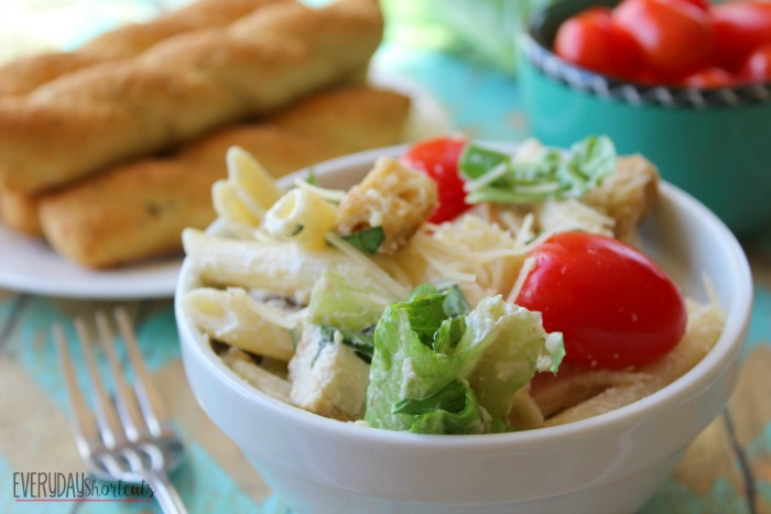 Chicken Caesar Pasta Salad horizontal