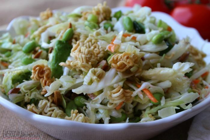 Crunchy Asian Ramen Noodle Salad in a bowl