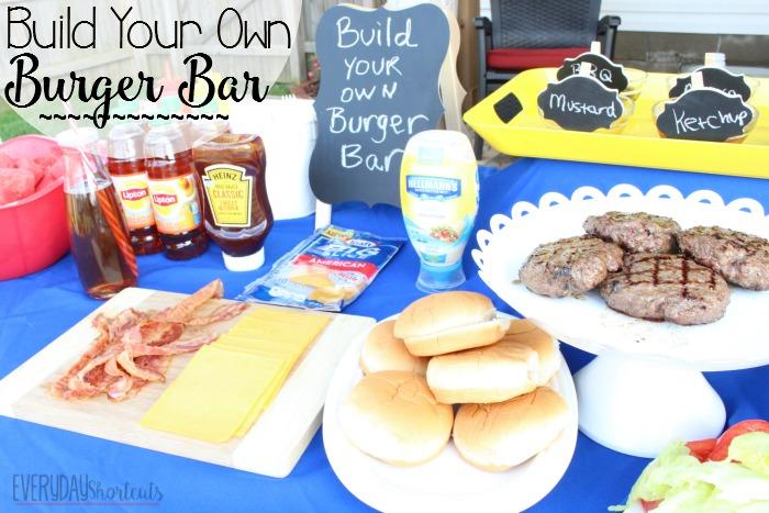 build your own burger bar