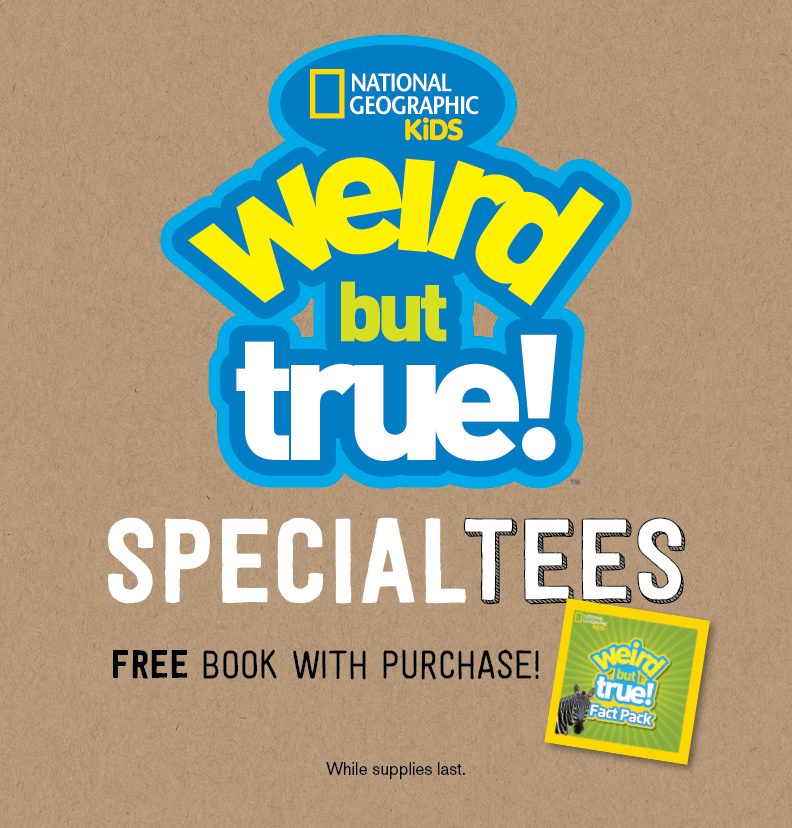 Gift With purchase image. In store only with any purchase of a Nat Geo Tee! (While supplies last)