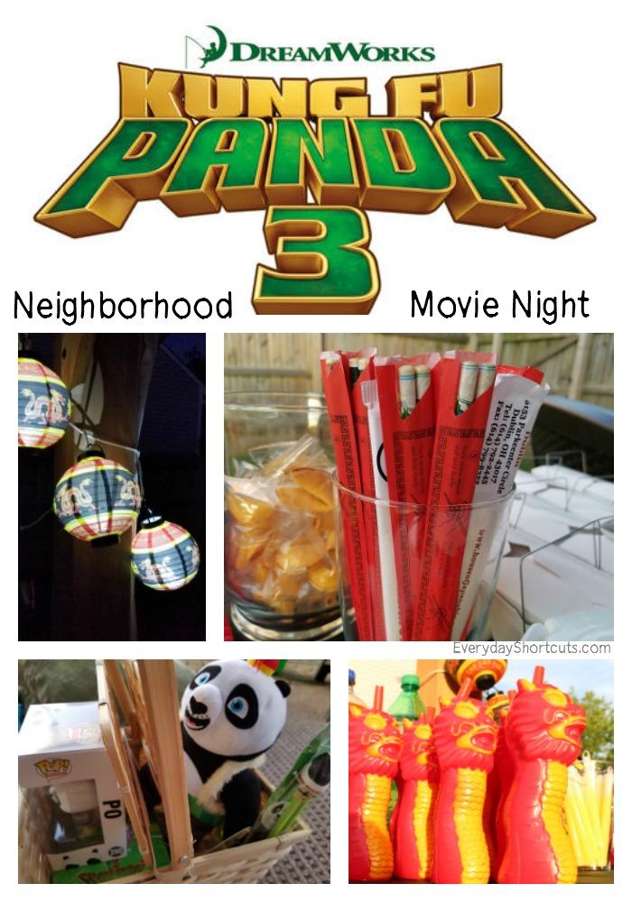 Kung Fu Panda 3 Neiborhood Movie Night