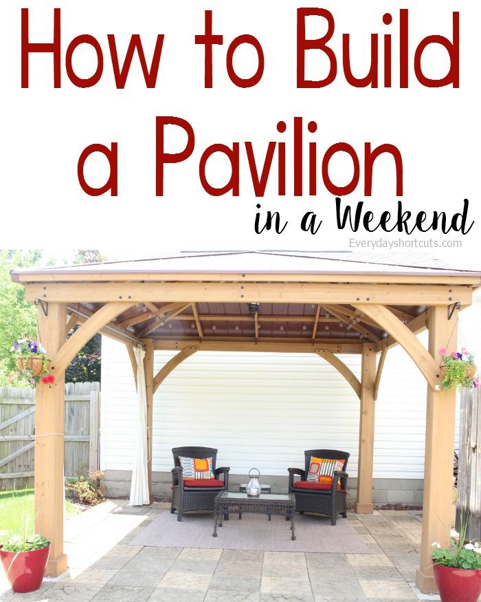 how to build a pavilion