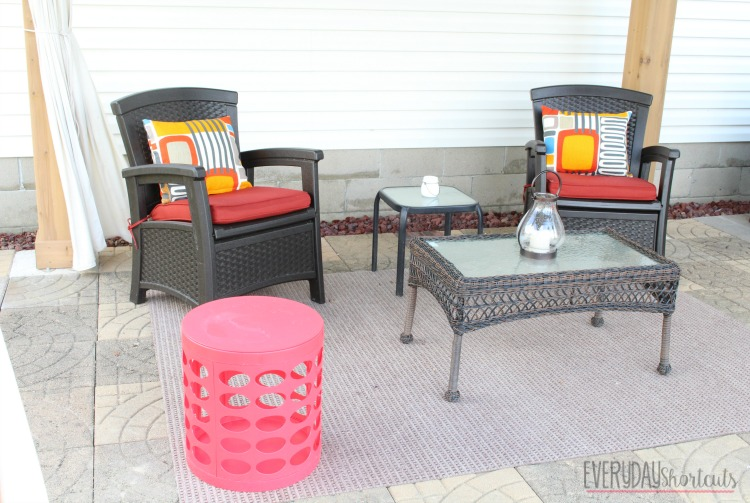 outdoor patio decorated
