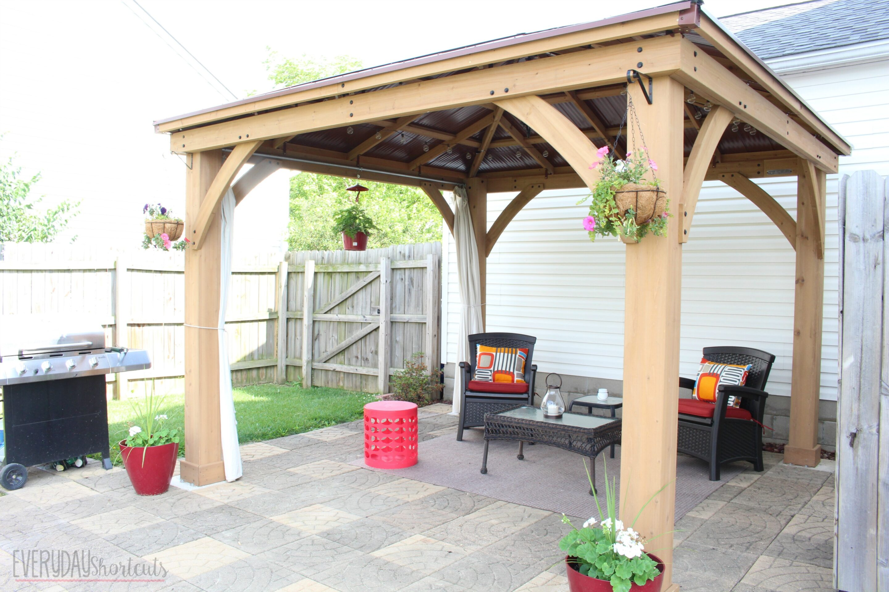 side view of patio