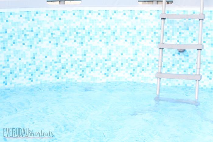 inside the pool
