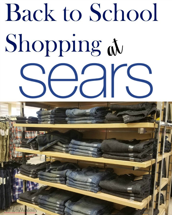 back to school shopping at sears