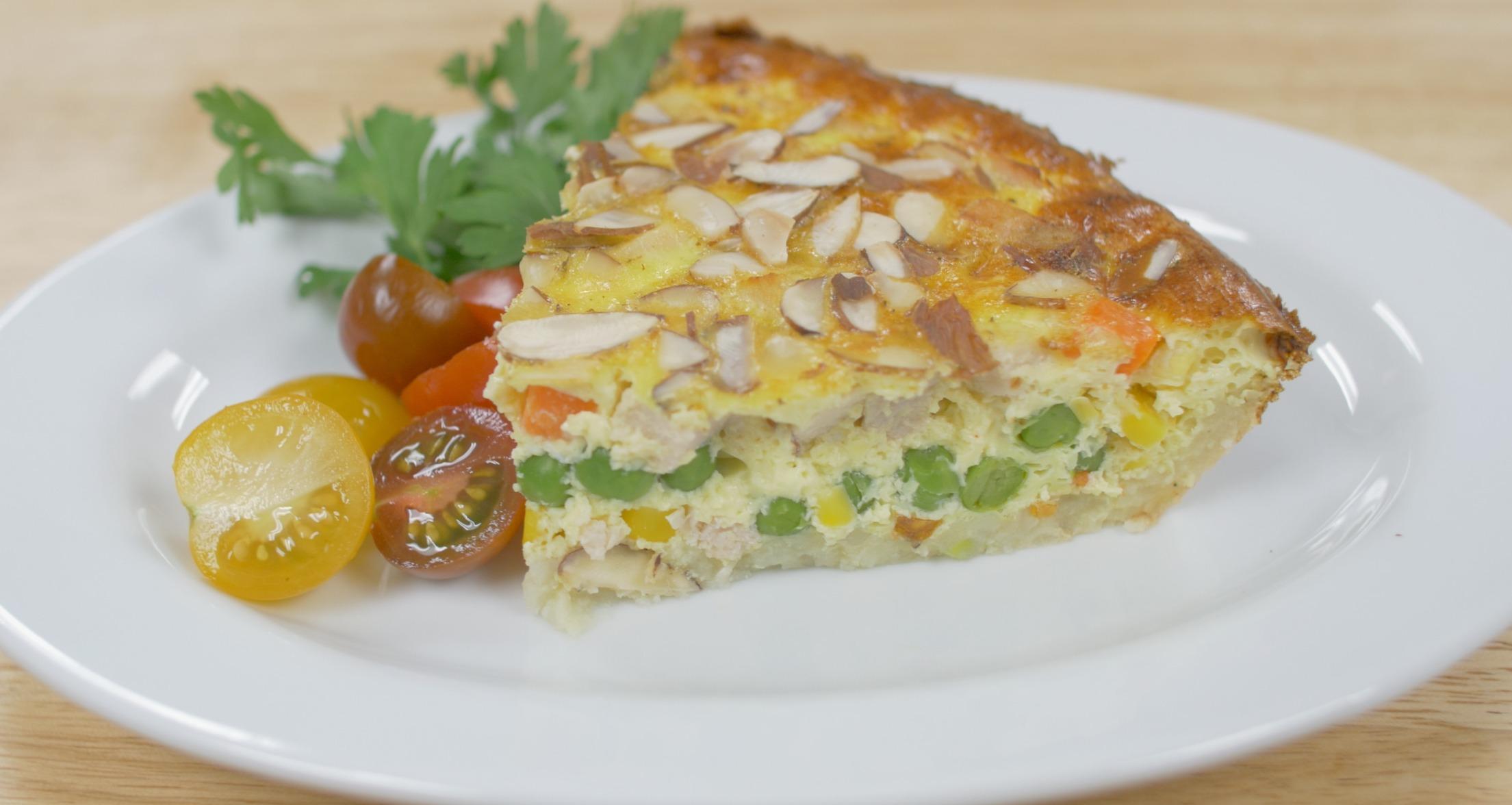 Turkey Vegetable Hash Brown Quiche