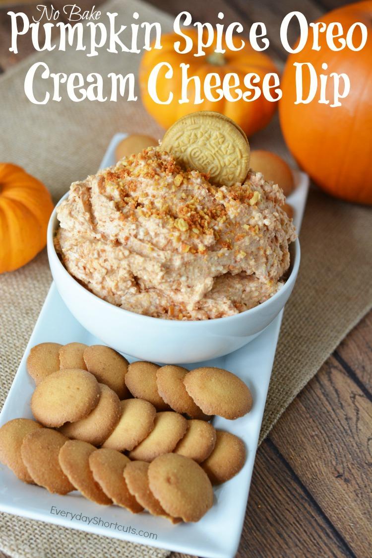 No Bake Pumpkin Spice Oreo Cream Cheese Dip