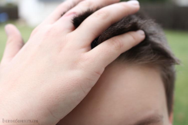 gel in hair