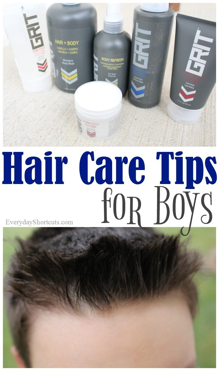 hair care tips for boys