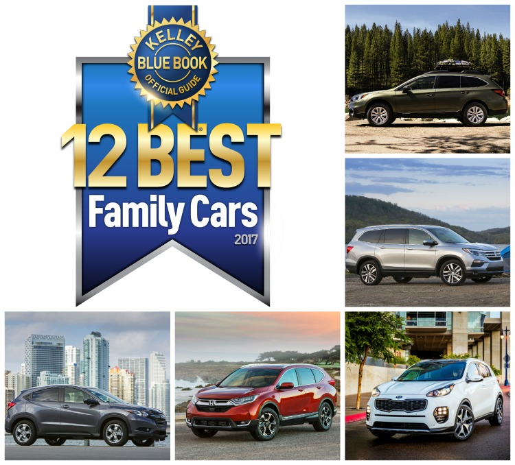 Kelley Blue Book 12 Best Family Cars