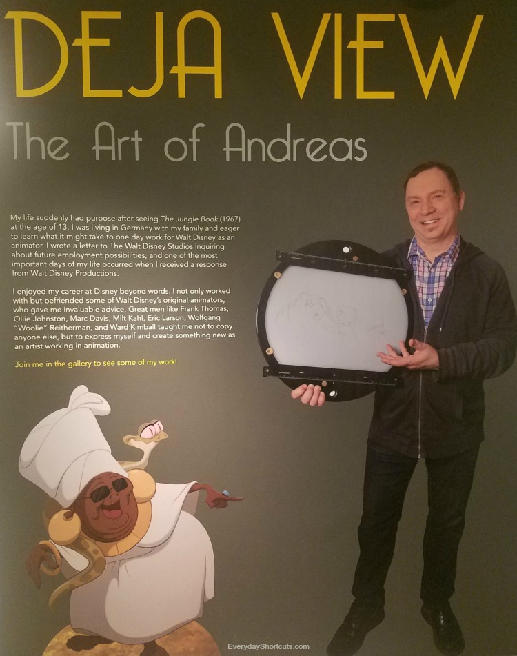 "Tour of ""Deja View: The Art of Andreas Deja"" Exhibit At Walt Disney Family Museum"