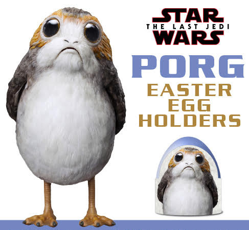 Porg Printable Easter Egg Holders