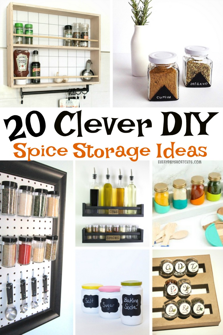 20 Clever DIY Spice Storage Ideas