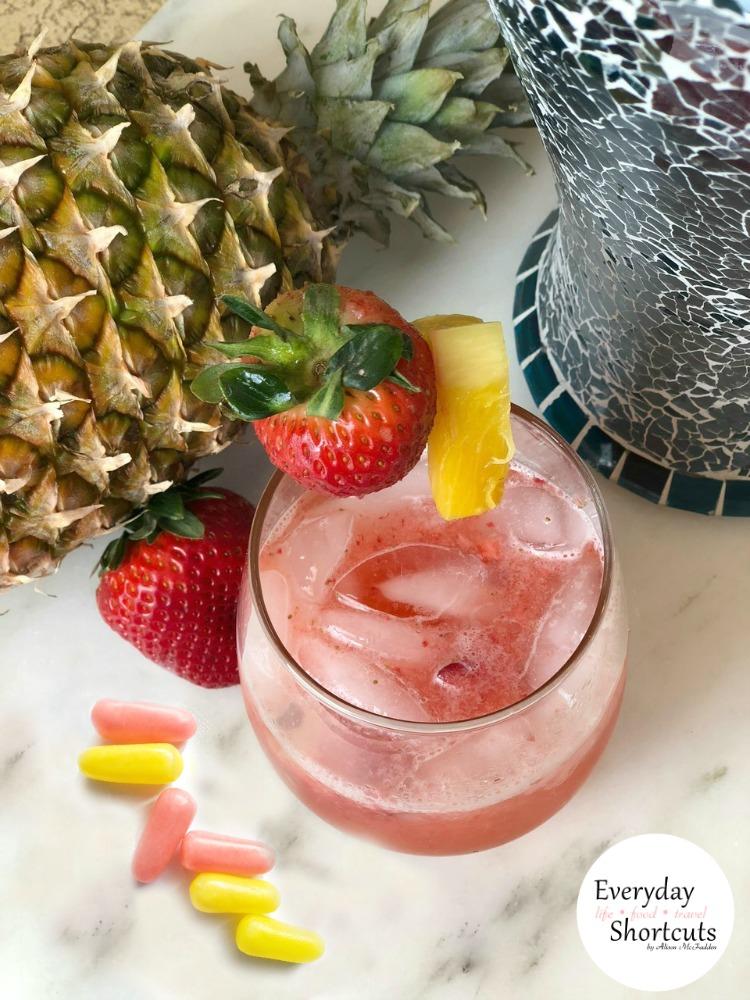 Sour Strawberry Lemonade Mocktail