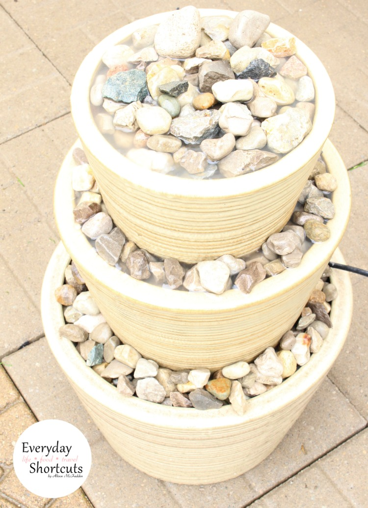 DIY Three-Tiered Outdoor Water Fountain